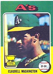 1975 Topps Baseball Cards      647     Claudell Washington RC