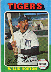 1975 Topps Mini Baseball Cards      066      Willie Horton