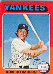 1975 Topps Mini Baseball Cards      068      Ron Blomberg