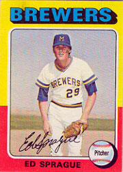 1975 Topps Baseball Cards      076      Ed Sprague