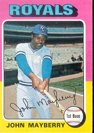 1975 Topps Mini Baseball Cards      095      John Mayberry
