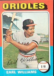 1975 Topps Mini Baseball Cards      097      Earl Williams