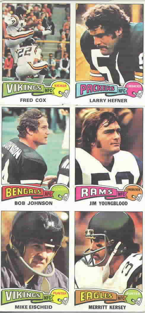 1975 Topps Panels Football Cards