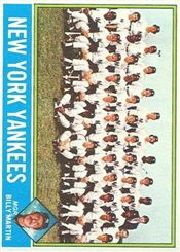 1976 Topps Baseball Cards      017      New York Yankees CL/Billy Martin