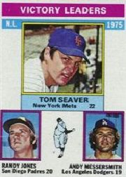 1976 Topps Baseball Cards      199     Tom Seaver/Randy Jones/Andy Messersmith LL