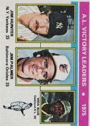 1976 Topps Baseball Cards      200     Jim Hunter/Jim Palmer/VidaBlue LL