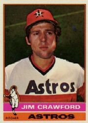 1976 Topps Baseball Cards      428     Jim Crawford