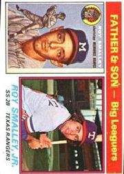 1976 Topps Baseball Cards      070      Roy/Roy Jr. Smalley FS