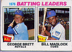 1977 Topps Baseball Cards      001       George Brett/Bill Madlock LL