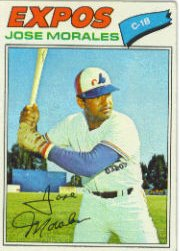1977 Topps Baseball Cards      102     Jose Morales
