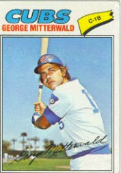 1977 Topps Baseball Cards      124     George Mitterwald