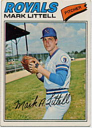 1977 Topps Baseball Cards      141     Mark Littell