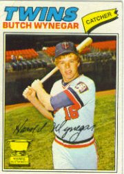 1977 Topps Baseball Cards      175     Butch Wynegar RC