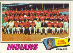 1977 Topps Baseball Cards      018      Cleveland Indians CL/Frank Robinson