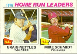 1977 Topps Baseball Cards      002       Graig Nettles/Mike Schmidt LL