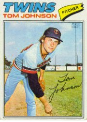 1977 Topps Baseball Cards      202     Tom Johnson