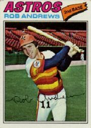 1977 Topps Baseball Cards      209     Rob Andrews