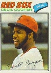 1977 Topps Baseball Cards      235     Cecil Cooper