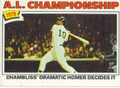 1977 Topps Baseball Cards      276     Chris Chambliss ALCS
