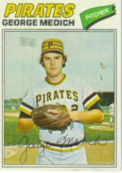 1977 Topps Baseball Cards      294     George Medich