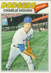 1977 Topps Baseball Cards      298     Charlie Hough