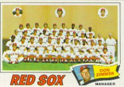 1977 Topps Baseball Cards      309     Boston Red Sox CL/Don Zimmer