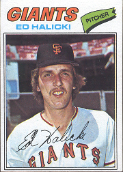 1977 Topps Baseball Cards      343     Ed Halicki