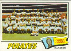 1977 Topps Baseball Cards      354     Pittsburgh Pirates CL/Chuck Tanner