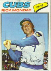 1977 Topps Baseball Cards      360     Rick Monday