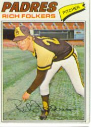 1977 Topps Baseball Cards      372     Rich Folkers
