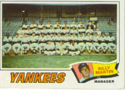 1977 Topps Baseball Cards      387     New York Yankees CL/Billy Martin