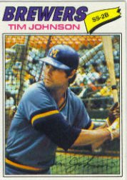 1977 Topps Baseball Cards      406     Tim Johnson