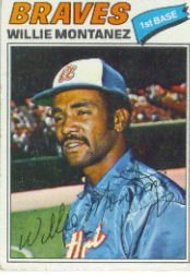 1977 Topps Baseball Cards      410     Willie Montanez