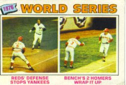 1977 Topps Baseball Cards      412     Johnny Bench WS