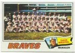 1977 Topps Baseball Cards      442     Atlanta Braves CL/Dave Bristol
