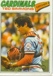 1977 Topps Baseball Cards      470     Ted Simmons