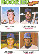 1977 Topps Baseball Cards      488     Jack Clark/Ruppert Jones/Lee Mazzilli/Dan Thomas RC
