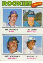 1977 Topps Baseball Cards      493     Mike Krukow/Jim Otten/Gary Wheelock/Mike Willis RC