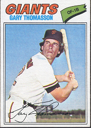 1977 Topps Baseball Cards      496     Gary Thomasson