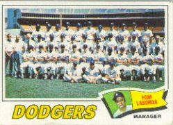 1977 Topps Baseball Cards      504     Los Angeles Dodgers CL/Lasorda
