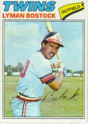 1977 Topps Baseball Cards      531     Lyman Bostock