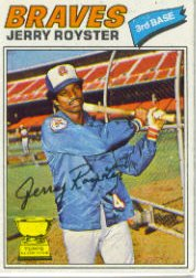 1977 Topps Baseball Cards      549     Jerry Royster