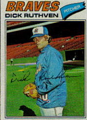 1977 Topps Baseball Cards      575     Dick Ruthven