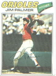 1977 Topps Baseball Cards      600     Jim Palmer