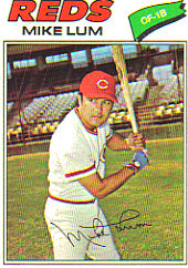 1977 Topps Baseball Cards      601     Mike Lum