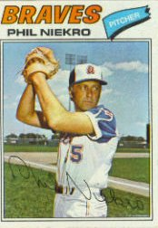 1977 Topps Baseball Cards      615     Phil Niekro