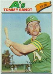 1977 Topps Baseball Cards      616     Tommy Sandt RC