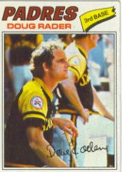 1977 Topps Baseball Cards      009       Doug Rader