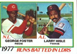 1978 Topps Baseball Cards      203     George Foster/Larry Hisle LL