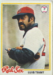 1978 Topps Baseball Cards      345     Luis Tiant